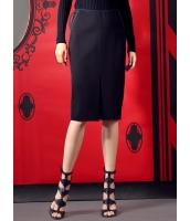ペンシルスカート 膝丈スカート 欧米風 個性派 ストリートファッション フロント セクシー スリット入り mb14106-1