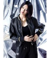 レザージャケット・革ジャン スタジャン スタンドカラー 欧米風 ストリートファッション ゆったり PUレザー 長袖 mb14108-1