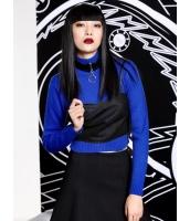 アンサンブル キャミソール+長袖セーター 2点セット 欧米風 純色 タートルネック ブラトップ mb14109-1