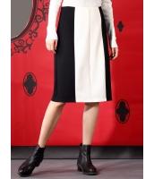 タイトスカート 膝丈スカート 欧米風 ストリートファッション クラシック モノトーン ストレッチ性 mb14111-1