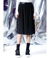 フレアスカート 膝丈スカート 欧米風 ストリートファッション Aライン裾 プリーツ mb14117-1