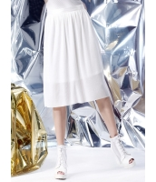 フレアスカート 膝丈スカート 欧米風 ストリートファッション Aライン裾 プリーツ mb14117-2