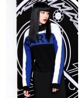 セーター 長袖 欧米風 ストリートファッション ジャカード 文字入り タートルネック mb14119-1