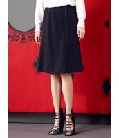 フレアスカート 膝丈スカート 個性派 Aライン裾 ゴムウエスト mb14126-1