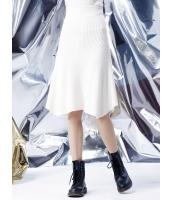 フレアスカート 膝丈スカート 欧米風 ストリートファッション Aライン裾 ニット mb14133-1