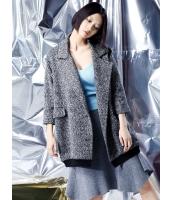 フリースジャケット テーラードジャケット 個性派 ゆったり ウール 七分丈袖 mb14136-1