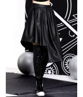 フレアスカート 膝丈スカート 欧米風 シンプル カジュアル 非対称裾 mb14138-1