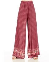 ガウチョ・スカーチョ ワイドパンツ 花柄裾 ゆったり ハイウエスト mb14233-1