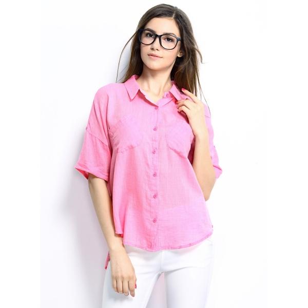 ガーベラレディース シャツ シンプル カジュアル 純綿 ゆったり mb14304-1