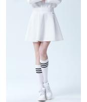 ガーベラレディース フレアスカート ミニスカート シンプル コーデアイテム Aライン裾 ジップアップ mb14349-3