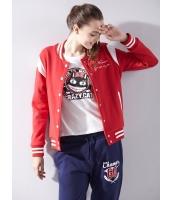ガーベラレディース スタジャン スタンドカラー カジュアル 学生風 ゆったり 刺繡入り 長袖 mb14380-2