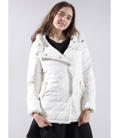 ガーベラレディース ダウンジャケット カジュアル コーデアイテム Aライン裾 シンプル おおらか フード付き ダブルボタン mb14383-3