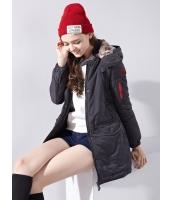 ガーベラレディース コクーンコート 欧米風 フード付き 綿入りコート mb14393-1