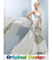 ガーベラレディース ウエディングドレス ロングドレス マーメイドラインドレス デラックス 刺繍 ロングテール mb14540-1