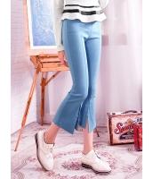 ガーベラレディース パンツ 韓国風 シンプル スリット入り 着やせ コーデアイテム 八分丈 mb14641-2