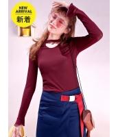 ガーベラレディース Tシャツ カットソー 長袖 韓国風 コーデアイテム mb14655-4