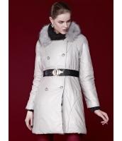 ガーベラレディース キルティングコート 取り外し可能ラクーンファー襟 ダブルボタン PUレザー 綿入りコート mb14699-1