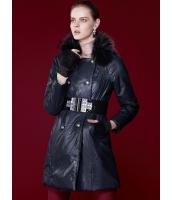 ガーベラレディース キルティングコート 取り外し可能ラクーンファー襟 ダブルボタン PUレザー 綿入りコート mb14699-2