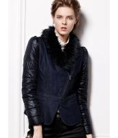 ガーベラレディース レザージャケット・革ジャン 装着式ファー襟 着やせ mb14703-1
