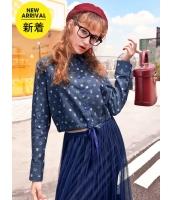 ガーベラレディース シャツ 長袖 韓国風 裾紐調節 ショート丈 mb14780-1