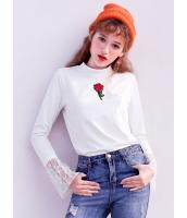 ガーベラレディース 韓国風 ハイネック拼プリーツ Tシャツ・カットソー 長袖 Koreanスタイル mb15219-2
