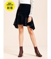 ガーベラレディース エレガント ベルベット 非対称 コーデアイテム フィッシュテールスカート ミニスカート mb15295-1