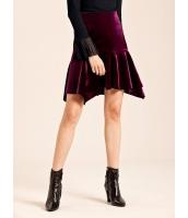 ガーベラレディース エレガント ベルベット 非対称 コーデアイテム フィッシュテールスカート ミニスカート mb15295-2