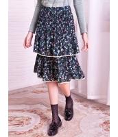 ガーベラレディース 花柄 プリーツスカート ティアードスカート 膝丈スカート Koreanスタイル mb15308-1