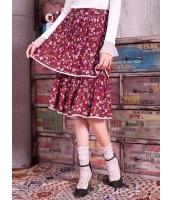 ガーベラレディース 花柄 プリーツスカート ティアードスカート 膝丈スカート Koreanスタイル mb15308-2