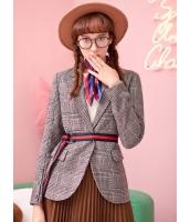 ガーベラレディース クラシック レトロ 格子 文芸風 テーラードジャケット Koreanスタイル mb15352-1