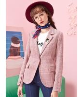 ガーベラレディース クラシック レトロ 格子 文芸風 テーラードジャケット Koreanスタイル mb15352-2