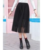 ガーベラレディース 韓国風 レース ゴムウエスト ギャザースカート 膝丈スカート Koreanスタイル mb15366-1