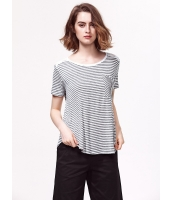 ガーベラレディース 欧米風 ゆったり コーデアイテム レース切替 丸首 Tシャツ・カットソー 半袖 mb15392-1