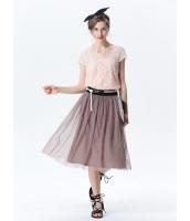 ガーベラレディース コーデアイテム ギャザースカート 膝丈スカート mb15402-4