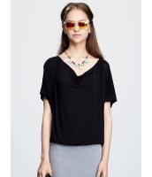 ガーベラレディース ドロップ襟 ドルマン Tシャツ・カットソー 半袖 mb15455-1