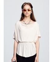ガーベラレディース ドロップ襟 ドルマン Tシャツ・カットソー 半袖 mb15455-2