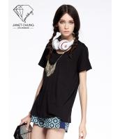 ガーベラレディース カジュアル 個性的 エレガント Tシャツ・カットソー 半袖 mb15513-1