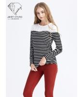 ガーベラレディース シンプル ニットセーター セーラー風 プルオーバー Tシャツ・カットソー 長袖 mb15522-1