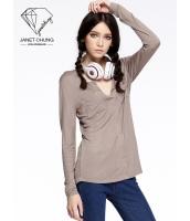 ガーベラレディース 着やせ 個性派 スポーティ Tシャツ・カットソー 長袖 mb15524-1