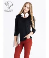 ガーベラレディース ニットセーター ホロー セクシー プルオーバー Tシャツ・カットソー 七分袖 mb15540-1