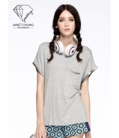 ガーベラレディース 着やせ 個性派 スポーティ Tシャツ・カットソー 半袖 mb15550-1