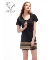 ガーベラレディース スパンコール Tシャツ・カットソー 半袖 mb15628-1