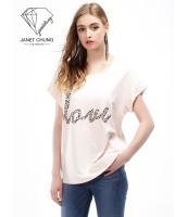 ガーベラレディース スパンコール Tシャツ・カットソー 半袖 mb15638-1