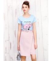 ガーベラレディース 可愛い コーデアイテム 肌に優しい リラックス 丸首 Tシャツ・カットソー 半袖 Koreanスタイル mb15681-1