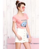 ガーベラレディース 可愛い コーデアイテム 肌に優しい リラックス 丸首 Tシャツ・カットソー 半袖 Koreanスタイル mb15681-3