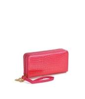 レディースバッグ クラッチバッグ セカンドバッグ ダブルファスナー 大容量 お財布 エナメルPU mb15843-3