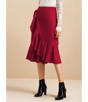ガーベラレディース ラップスカート フィッシュテールスカート 膝丈スカート mb16019-2