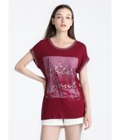 ガーベラレディース Tシャツ 半袖 mb16318-1