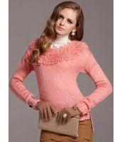 【即納】TK-mb4141☆限定品☆-デコルテもこもこセーター-【カラー:ピンク】-【サイズ:L】