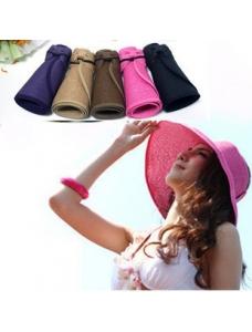 【即納】水着付属品 | ビーチ用日焼け止め帽子-tkm-n4229-pu-【カラー:パープル】-【サイズ:フリー】